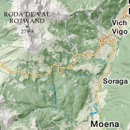 Cartina Geografica Dolomiti.Le Dolomiti
